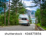 motorhome passing by on a... | Shutterstock . vector #436875856