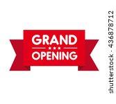 grand opening invitation red... | Shutterstock .eps vector #436878712