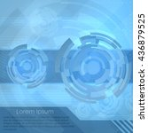 abstract vector digital... | Shutterstock .eps vector #436879525