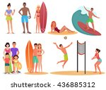 people and couples on active... | Shutterstock .eps vector #436885312