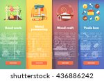 set of building and... | Shutterstock .eps vector #436886242