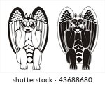 two versions of black and white ... | Shutterstock .eps vector #43688680