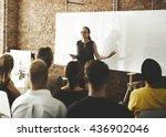 business team training... | Shutterstock . vector #436902046