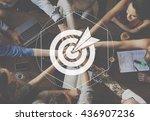 target goals expectations... | Shutterstock . vector #436907236