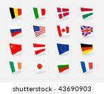 vector set icons countries... | Shutterstock .eps vector #43690903