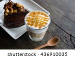 close up of a coffee macchiato | Shutterstock . vector #436910035
