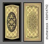 vector vintage border frame... | Shutterstock .eps vector #436914742