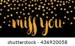 handwritten calligraphic gold... | Shutterstock .eps vector #436920058