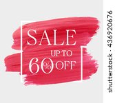 sale up to 60  off sign over... | Shutterstock .eps vector #436920676