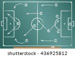 football tactics scheme drawn... | Shutterstock .eps vector #436925812
