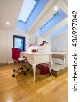 Small photo of Interior of a modern room in loft, attic apartment