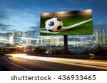 billboard blank for outdoor... | Shutterstock . vector #436933465