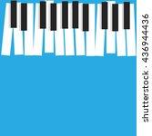 piano vector for world music... | Shutterstock .eps vector #436944436