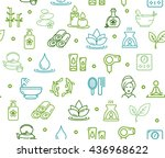 spa colorful background pattern ... | Shutterstock .eps vector #436968622
