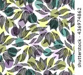 seamless pattern with hand... | Shutterstock .eps vector #436974862
