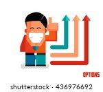 option graphic. flat vector... | Shutterstock .eps vector #436976692