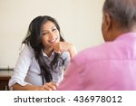 closeup portrait  patient... | Shutterstock . vector #436978012