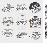 birthday  badge for your design ... | Shutterstock .eps vector #436980382