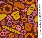 vector food bakery seamless... | Shutterstock .eps vector #436981678