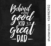 fathers day inspirational... | Shutterstock .eps vector #436982932