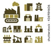 industry  factory icon set | Shutterstock .eps vector #436984606