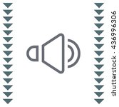 speaker sign line vector icon....