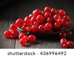 Fresh Red Currants In Plate On...