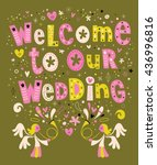 welcome to our wedding card... | Shutterstock .eps vector #436996816