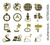 location  place icon set   Shutterstock .eps vector #437001406