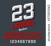 legend typeface. beveled sport...