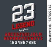 legend typeface. beveled sport... | Shutterstock .eps vector #437003362