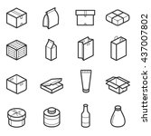 packaging outline vector icons. ...