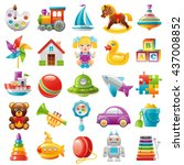baby toys icon set  palette ... | Shutterstock .eps vector #437008852