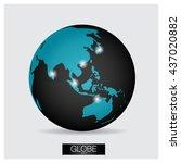 modern globe  vector...   Shutterstock .eps vector #437020882