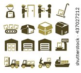 pack  package  packaging icon... | Shutterstock .eps vector #437027212