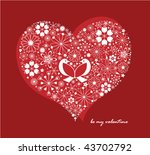 valentine's day greeting card | Shutterstock .eps vector #43702792
