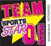typography sport vector graphic ...   Shutterstock .eps vector #437029552