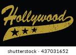 hollywood | Shutterstock .eps vector #437031652