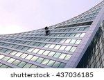 window washers at a modern... | Shutterstock . vector #437036185