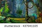 digital painting  illustration... | Shutterstock . vector #437041105