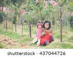 vietnamese kids are reading... | Shutterstock . vector #437044726