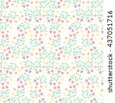 cute floral seamless pattern of ... | Shutterstock . vector #437051716