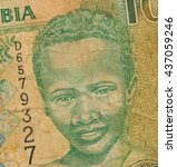 Small photo of 10 Gambian dalasi bank note, isolated on white