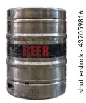 isolated grungy metal beer keg... | Shutterstock . vector #437059816