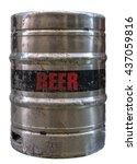 isolated grungy metal beer keg... | Shutterstock . vector #437059816