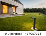 image of modern villa with... | Shutterstock . vector #437067115