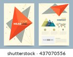 cover design template with... | Shutterstock .eps vector #437070556