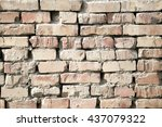 brick wall as background.... | Shutterstock . vector #437079322