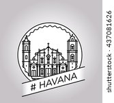 vector line havana badge | Shutterstock .eps vector #437081626