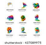 brain  creative mind  learning... | Shutterstock .eps vector #437089975